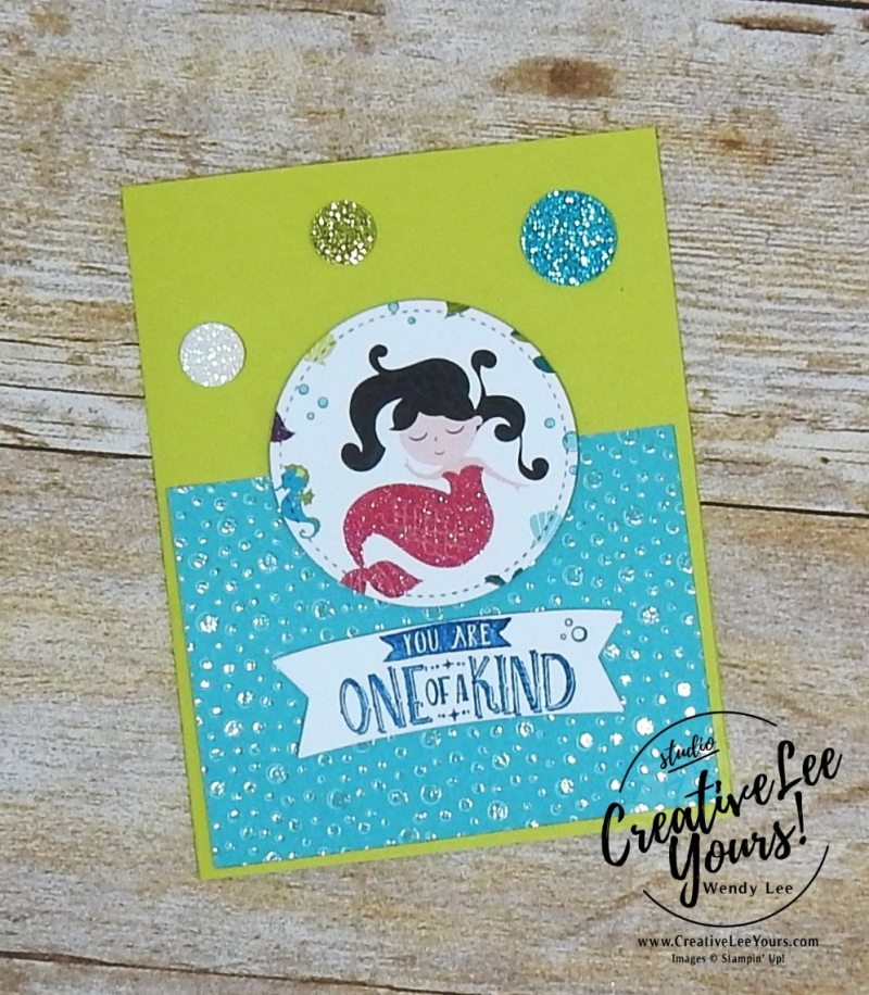 One of a kind by Jennifer Moretz, Wendy Lee, creatively yours, creative-lee yours, Stampin Up, stamping, handmade, SU, #creativeleeyours, magical day stamp set, diemonds team meeting, magical mates framelits