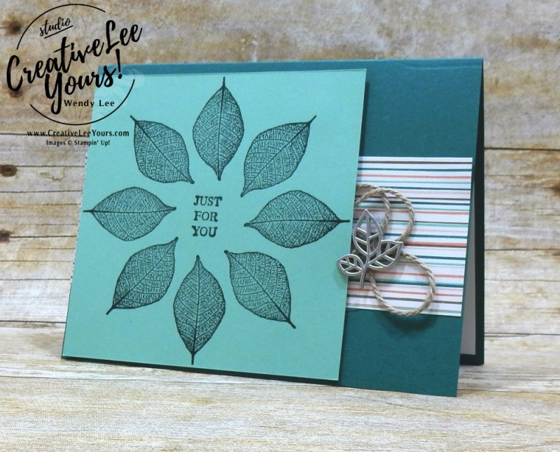 Kaleidoscope Leaves by jennifer moretz, cardmaking, handmade card, rubber stamps, stamping, stampin up, wendy Lee, #creativeleeyours, creatively yours, creative-lee yours, SU, SU cards, rooted in nature stamp set, birthday, thank you, diemonds team swap, stamparatus