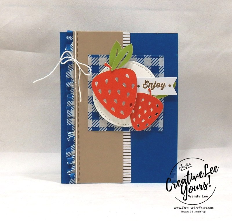 Enjoy, July 2018 picnic paradise Paper Pumpkin Kit by wendy lee, stampin up, handmade cards, rubber stamps, stamping, kit, subscription, #creativeleeyours, creatively yours, creative-lee yours, birthday, friend, thank you, congrats, alternate