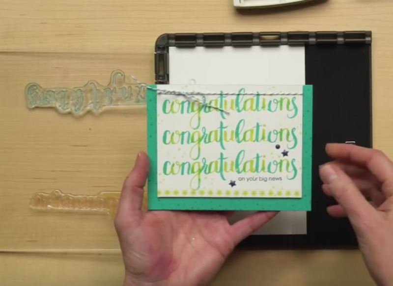 Stamparatus with wendy lee, stampin up, stamp positioning tool, placement tool, #creativeleeyours, stamping, easy placement, creatively yours, misti, creative-lee yours, creatively yours, SU, hinge-step technique, amazing congratulations stamp set