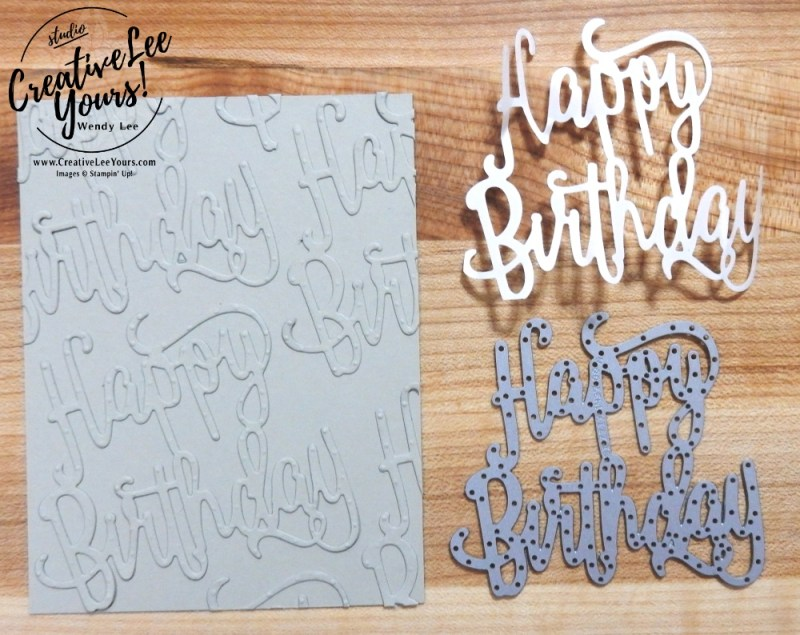Birthday Balloon by wendy lee, Stampin Up, stamping, handmade card, friend, thank you, birthday, #creativeleeyours, creatively yours, creative-lee yours, Up & Away thinlits, Happy Birthday Gorgeous stamp set, happy birthday thinlits, SU, SU cards, rubber stamps