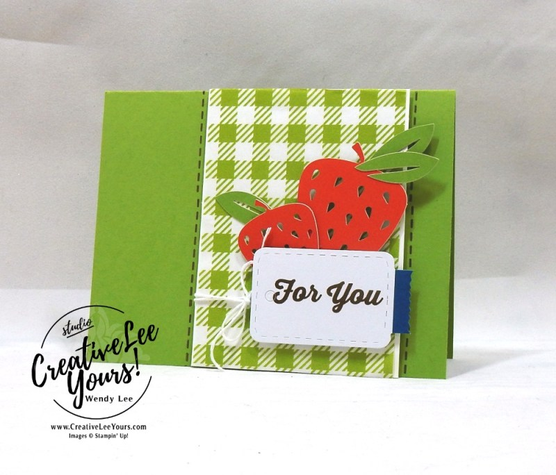 Strawberry For You,July 2018 picnic paradise Paper Pumpkin Kit by wendy lee, stampin up, handmade cards, rubber stamps, stamping, kit, subscription, #creativeleeyours, creatively yours, creative-lee yours, birthday, friend, thank you, congrats, alternate
