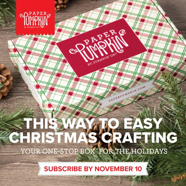 November 2018 Paper Pumpkin Kit, wendy lee, stampin up, handmade cards, Christmas, Holiday, treats, rubber stamps, stamping, kit, subscription, #creativeleeyours, creatively yours, creative-lee yours, bonus tutorial, alternate projects, fast & easy, DIY, crafting therapy, shareable art