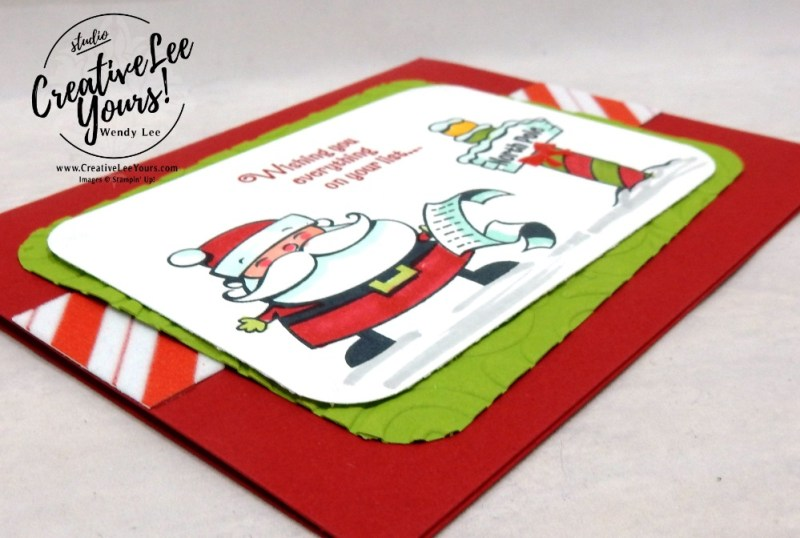 North Pole by belinda rodgers, wendy lee, Stampin Up, stamping, handmade card, #creativeleeyours, creatively yours, creative-lee yours, diemonds team, signs of santa stamp set, SU, SU cards, rubber stamps, demonstrator,DIY, christmas, business opportunity