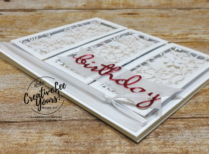 Detailed Birthday by wendy lee, Diemonds team sketch challenge, stampin up, stamping, SU, #creativeleeyours, creatively yours, creative-lee yours, DIY, well said stamp set, friend, birthday, congrats, love, support, hello, stitched rectangle