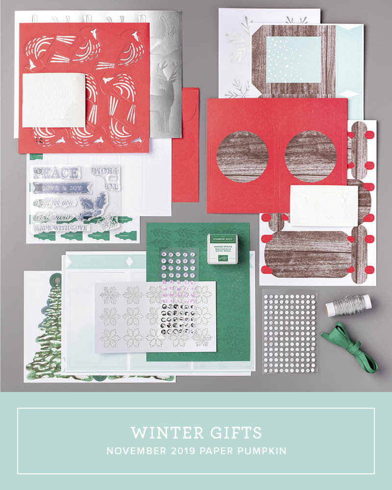Wendy Lee, November 2019 Paper Pumpkin Kit, stampin up, handmade cards, rubber stamps, stamping, kit, subscription, #creativeleeyours, creatively yours, creative-lee yours, celebration, smile, thank you, alternate, bonus tutorial, fast & easy, DIY, #simplestamping, card kit, tags, holiday, Christmas, #simplestamping, cardinal, trees, winter wishes, snowflakes, gifts