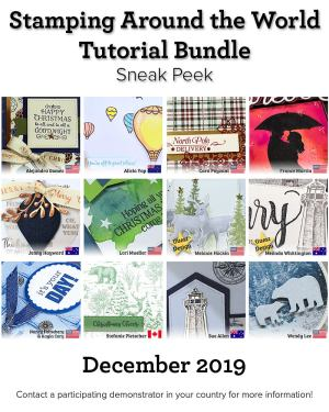 Stamping Around the World Tutorial Bundle, December 2019,blog hop, wendy lee, class, cards, exclusive, #creativeleeyours, creativelee-yours, creatively yours, pattern paper, rubber stamps, Stampin Up, hand made cards, technique, fun fold, DIY, paper crafts