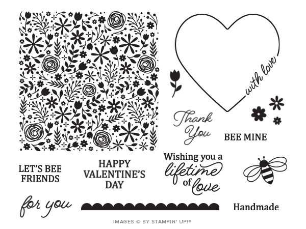 Wendy Lee, January 2020 Paper Pumpkin Kit, stampin up, handmade cards, rubber stamps, stamping, kit, subscription, #creativeleeyours, creatively yours, creative-lee yours, celebration, smile, thank you, birthday, love, valentine, congrats, wedding, alternate, video, bonus tutorial, fast & easy, DIY, #simplestamping, card kit, flowers, hearts, bees, I'll Bee Yours