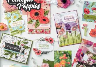 Peaceful Poppies Suite with wendy lee, Stampin Up, #creativeleeyours, wendy lee, creatively yours, creative-lee yours, stamping, paper crafting, handmade, cards, class, friend, painted poppies stamp set, peaceful moment stamp set, 3D, treat holders, pattern paper, video, crafts, think of you, birthday, sympathy, thank you, congratulations, remember