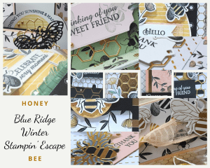 Blue Ridge Winter Stampin' Escape with Wendy Lee, retreat, class, online, winter blues, stamping, SU, patternpaper, creativeleeyours, creative-lee yours, creatively yours, DIY, handmade, rubber stamps, bundle, tutorial, #patternpaper, virtual class, bundle, class kit, honey bee stamp set, timeless tulips stamp set, papercrafts, 3D, treats, cards, tags