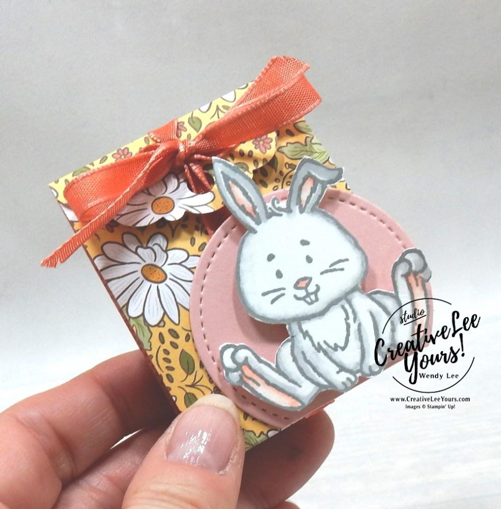 Matchbook Treat Holder by Wendy Lee, 3D Thursday, guest designer, stampin Up, SU, #creativeleeyours, handmade card, welcome easter stamp set, friend, celebration, stamping, creatively yours, creative-lee yours, DIY, birthday, papercrafts, pattern paper, #makeacardsendacard ,#makeacardchangealife , #diemondsteam , bunny, lamb, chick, candy treat