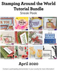 Stamping Around the World Tutorial Bundle, March 2020,blog hop, wendy lee, class, cards, exclusive, #creativeleeyours, creativelee-yours, creatively yours, pattern paper, rubber stamps, Stampin Up, hand made cards, technique, fun fold, DIY, paper crafts