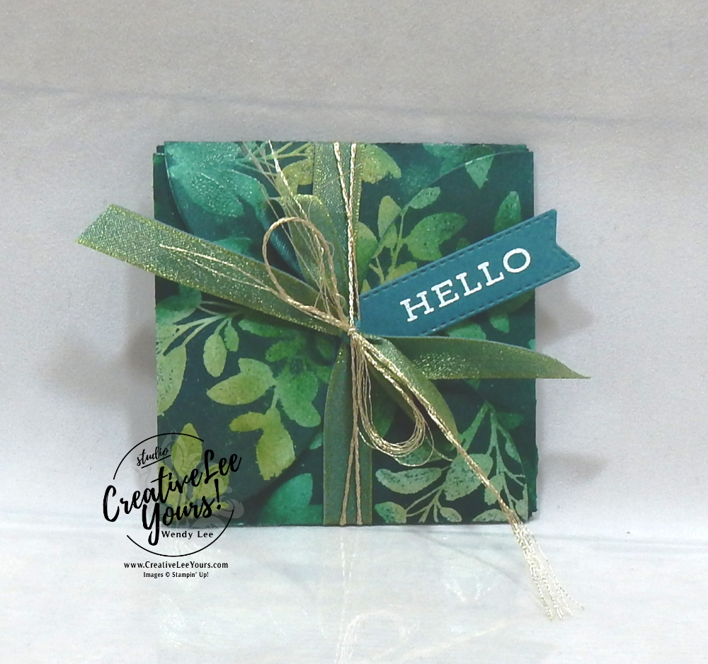 Forever Fern Gift Envelope, stampin up, stamping, SU, #creativeleeyours, creatively yours, creative-lee yours, #cardmaking #handmadecard #rubberstamps #stamping, friend, celebration, congratulations, thank you, hello, birthday, stamping, DIY, paper crafts, #papercrafting , #papercraftingsupplies, #papercraftingisfun , tutorial, class, Forever fern stamp set, #makeacardsendacard ,#makeacardchangealife, josephs coat ,#tutorial ,#tutorials ,#technique ,#techniques, gift package, treat pouch, stampers showcase blog hop , tasteful labels dies, circles