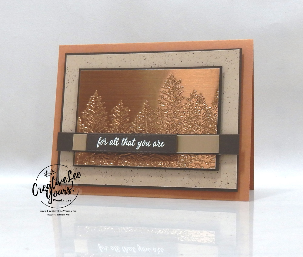 Metallic Forest by Wendy Lee, Best Year Stamp Set, stampin Up, SU, #creativeleeyours, handmade card, friend, celebration, thank you, stamping, creatively yours, creative-lee yours, DIY, birthday, papercrafts, #makeacardsendacard ,#makeacardchangealife , rubberstamps, #stampinupdemonstrator , #cardmaking, #papercrafts , #papercraft , #papercrafting , #papercraftingsupplies, #papercraftingisfun, evergreen, forest, kylie bertucci, international highlights, blog hop, masculine