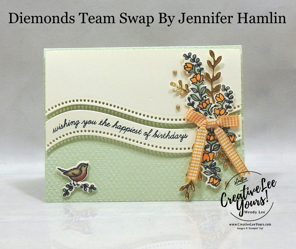 Curvy Happiest Of Birthdays by Jennifer Hamlin, Wendy Lee, stampin Up, SU, #creativeleeyours, handmade card, quite curvy stamp set, friend, celebration, thank you, stamping, creatively yours, creative-lee yours, DIY, birthday, papercrafts, business opportunity, #makeacardsendacard ,#makeacardchangealife , #diemondsteam ,#diemondsteamswap ,#businessopportunity, rubberstamps, #stampinupdemonstrator , #cardmaking, #papercrafts , #papercraft , #papercrafting , #papercraftingsupplies, #papercraftingisfun