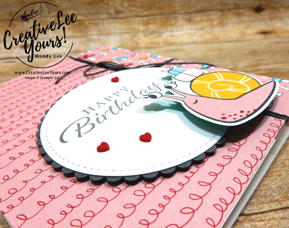 Super Cute Wobble Card by Wendy Lee, stampin Up, SU, #creativeleeyours, handmade card, friend, celebration , birthday, stamping, creatively yours, creative-lee yours, DIY, papercrafts, rubberstamps, #stampinupdemonstrator , #papercrafts , #papercraft , #papercrafting , #papercraftingsupplies, #papercraftingisfun, video , Happy Thoughts stamp set, #tutorial ,#tutorials, thank you, #snailedit, #snailmail, #darlingdonkeys, ,#SAB, #saleabration, #wobblecard, #live, facebook live