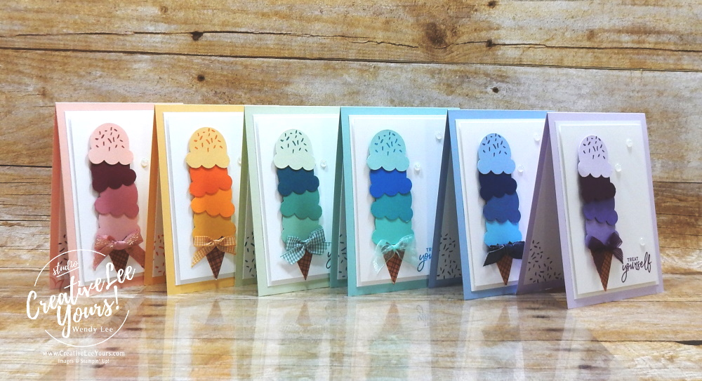 Treat Yourself by Wendy Lee, stampin up, handmade cards, rubber stamps, stamping, #creativeleeyours, creatively yours, creative-lee yours, DIY, #su , #stampinupdemonstrator, #papercrafts , #papercraft , #papercrafting , #makeacardsendacard ,#makeacardchangealife , Sweet Ice Cream stamp set, online workshop, #cardmaking, ,#cardclasses ,#onlinecardclasses, #papercraftingsupplies, #papercraftingisfun, #papercraftingideas, birthday, friend, celebration