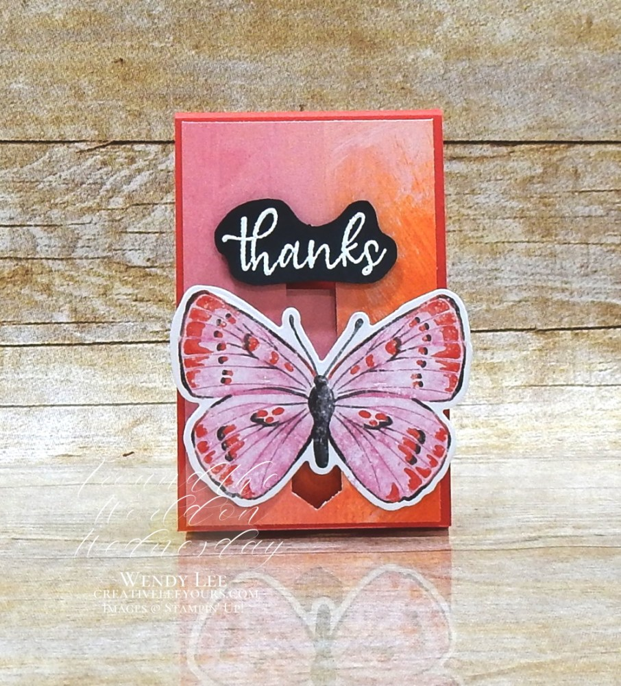 Chapstick Holder with Butterfly Closure by Wendy Lee, Fun Fold,3D, simply succulents stamp set, stampin up, stamping, SU, #creativeleeyours, creatively yours, creative-lee yours, #cardmaking, #handmadecard, #rubberstamps, #stamping, friend, celebration, congratulations, thank you, hello, birthday, warm wishes, anniversary, chap stick holder, stamping, DIY, paper crafts, #papercrafting , #papercraftingsupplies, #papercraftingisfun , #aroundtheworldonwednesday, #aWOWbloghop, #butterfly opening, #brilliantwings, #butterflybijou
