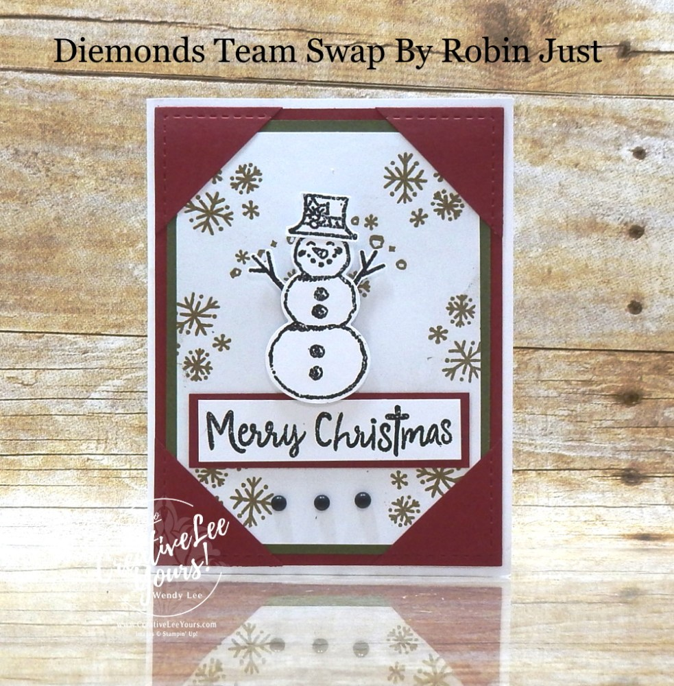 Christmas Pop-Up by Robin Just, Wendy Lee, Snowman Season stamp set, snowman, Christmas, stampin up, stamping, SU, #creativeleeyours, creatively yours, creative-lee yours, #cardmaking #handmadecard #rubberstamps #stamping, friend, celebration, congratulations, thank you, hello, birthday, warm wishes, stamping, DIY, paper crafts, #papercrafting , #papercraftingsupplies, #papercraftingisfun , #makeacardsendacard ,#makeacardchangealife, #diemondsteam, #businessopportunity, #diemondsteamswap, pop up