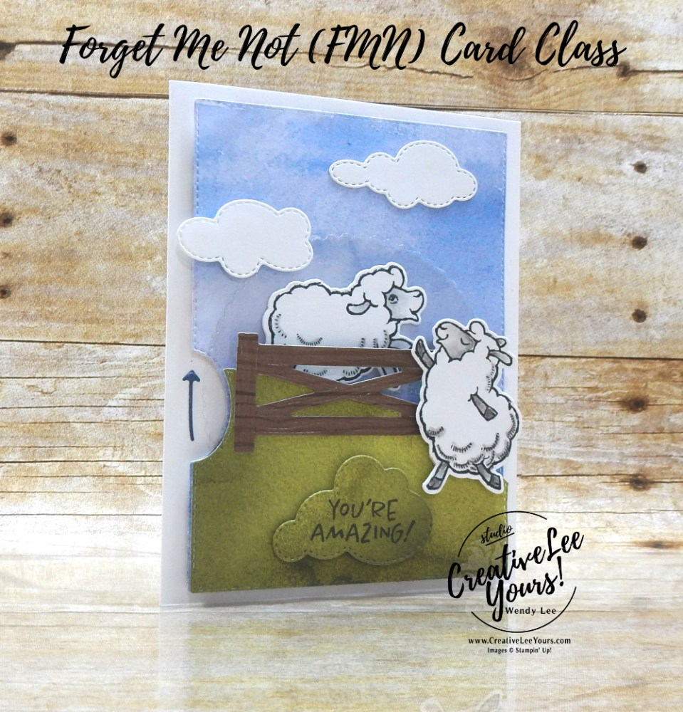 You're Amazing Spinner by wendy lee, Fun Fold, Counting Sheep stamp set, Sheep Dies, Give It A Whirl Dies, stampin up, stamping, SU, #creativeleeyours, creatively yours, creative-lee yours, #cardmaking, #handmadecard, #rubberstamps #stamping, friend, thinking of you, sympathy, thank you, birthday, love, anniversary, stamping, interactive card, DIY, paper crafts, welcome, #papercrafting , #papercraftingsupplies, #papercraftingisfun , FMN, forget me not, ,#cardclub ,#cardclasses ,#onlinecardclasses , tutorial ,#tutorials ,#funfoldcards ,#funfoldcard ,#makeacardsendacard ,#makeacardchangealife