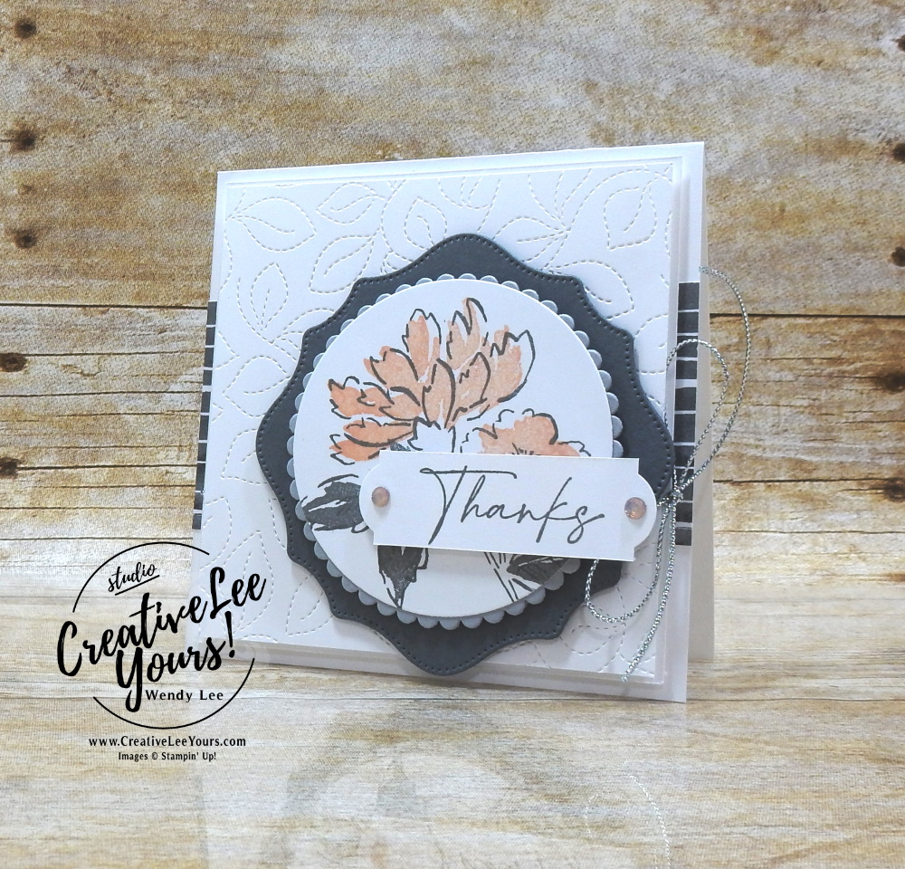 Hand-penned Thanks by Wendy Lee, All star tutorial bundle, #wendylee , #creativeleeyours , #stampinup , #su , #stampinupdemonstrator , #cardmaking, #handmadecard, #rubberstamps, #stamping, #cardclass, # cardclasses ,#onlinecardclasse,#tutorial ,#tutorials #DIY, #papercrafts , #papercraft , #papercrafting , #papercraftingsupplies, #papercraftingisfun, #papercraftingideas, #makeacardsendacard ,#makeacardchangealife, #subscription, #product suites, Expressions In Ink Suite, Bloom Where You Are Planted Suite, You're A Peach Suite, Blackberry beauty Suite, Sweet Symmetry Suite, Hand Penned Suite, #allstardesignteambloghop