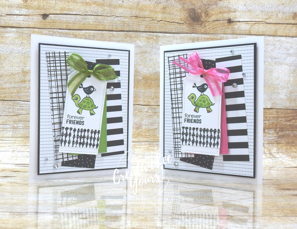 Forever Friends by wendy lee, #creativeleeyours, creatively yours, creative-lee yours, DIY, SU, rubber stamps, class, thank you, birthday, Turtle Friends stamp set, friend, birthday, anniversary, wedding, #stampinup, #stampinupdemonstrator, #cardmaking, #handmadecard, #rubberstamps, #stamping,#tutorial ,#tutorials, #papercrafts , #papercraft , #papercrafting , #papercraftingsupplies, #papercraftingisfun, #papercraftingideas, #makeacardsendacard ,#makeacardchangealife, Facebook live, video,#cardclasses ,#onlinecardclasses, #2stepstamping, #patternpartyDSP, #patternpaper
