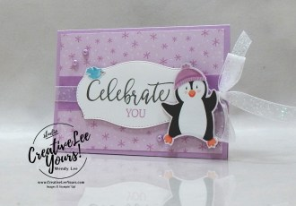 Celebrate You Gift Card Holder by wendy lee, #creativeleeyours, creatively yours, creative-lee yours, DIY, SU, rubber stamps, class, thank you, birthday, Christmas, Penguin Playmates, Create With Friends stamp set, friend, birthday, #stampinup, #stampinupdemonstrator, #love, #cardmaking, #handmadecard, #rubberstamps, #stamping,#tutorial ,#tutorials, #papercrafts , #papercraft , #papercrafting , #papercraftingsupplies, #papercraftingisfun, #papercraftingideas, #makeacardsendacard ,#makeacardchangealife, #cardclasses, gift card holder, winter