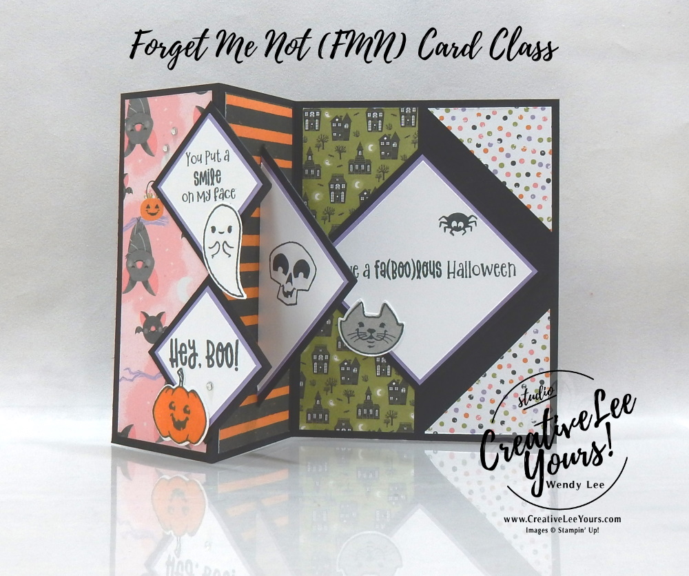 Fold Back Pop-Up by wendy lee, Cutest Halloween stamp set, Halloween punch, Halloween card, ghost, skeleton, pumpkin, stampin up, stamping, SU, #creativeleeyours, creatively yours, creative-lee yours, #cardmaking, #handmadecard, #rubberstamps #stamping, friend, thinking of you, sympathy, thank you, birthday, stamping, DIY, paper crafts, #papercrafting , #papercraftingsupplies, #papercraftingisfun , FMN, forget me not, ,#cardclub ,#cardclasses ,#onlinecardclasses , tutorial ,#tutorials ,#funfoldcards ,#funfoldcard ,#makeacardsendacard ,#makeacardchangealife, pop up card
