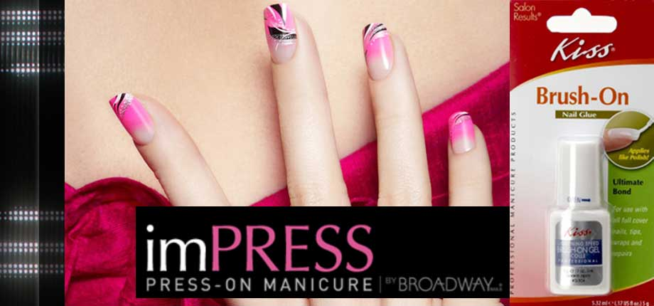 Prolonging Your Broadway Nails Impress Manicure A Kiss Lightning Sd Brush On Nail Glue Review