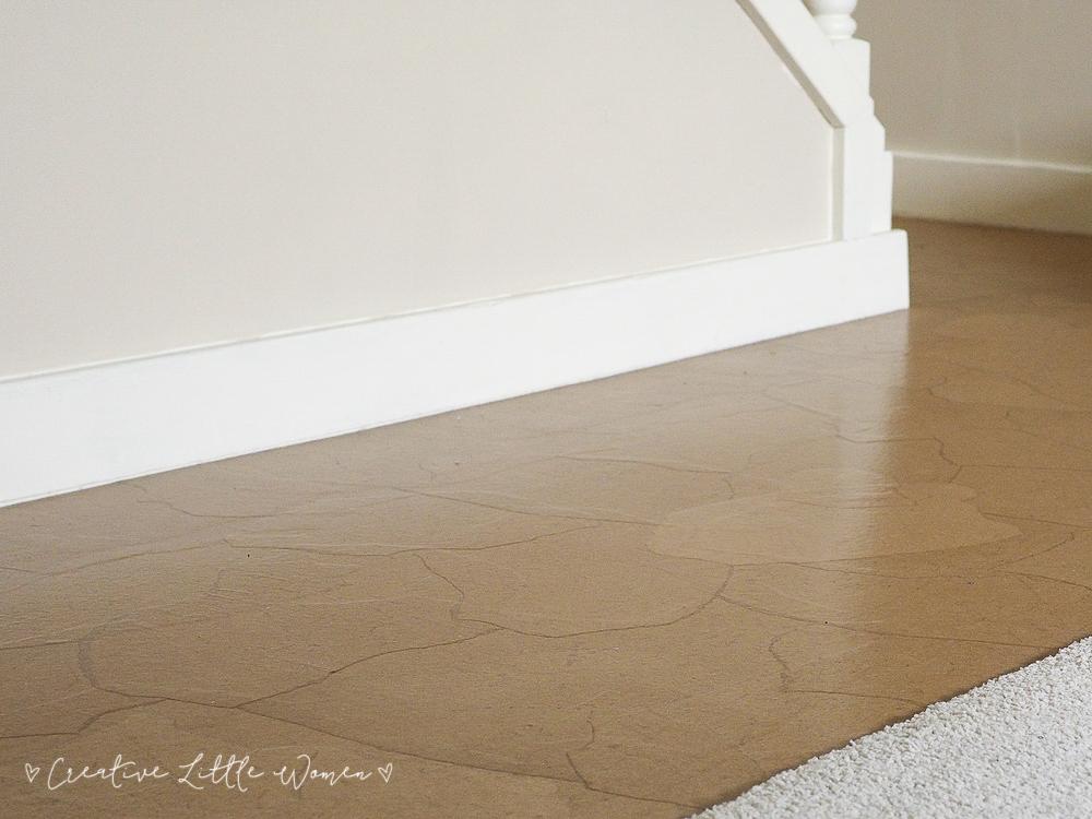The ultimate diy flooring - brown paper floor... ~ Creative Little Women