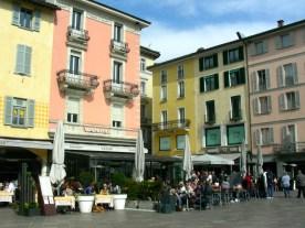 A piazza in central Lugano