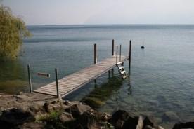 A dock near Cully