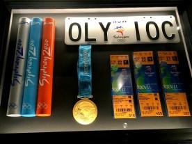 Memorabilia from the Sydney 2000 Summer Olympics.