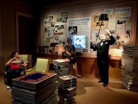 A press room in the Manoir looks at Chaplin's international renown.