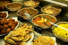 Ethnic cuisine also has a popular following at La Halle. Here, a tasty selection of Middle Eastern food at A. Dardashti - Ariana Food.