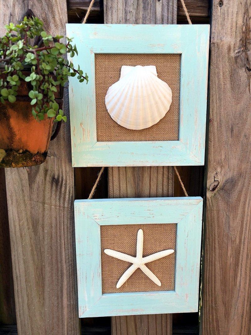 Coastal Inspired Burlap Home Decor in 15 Minutes with Creatively Beth #creativelybeth #15minutecrafts #burlapcrafts #coastaldecor