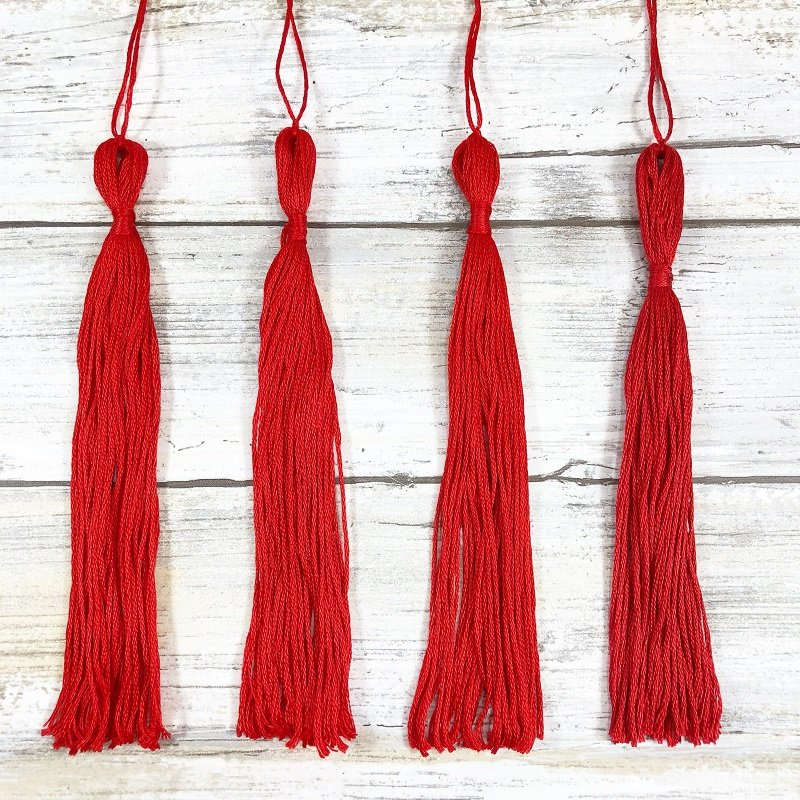 How to Make DIY Tassels from Embroidery Floss