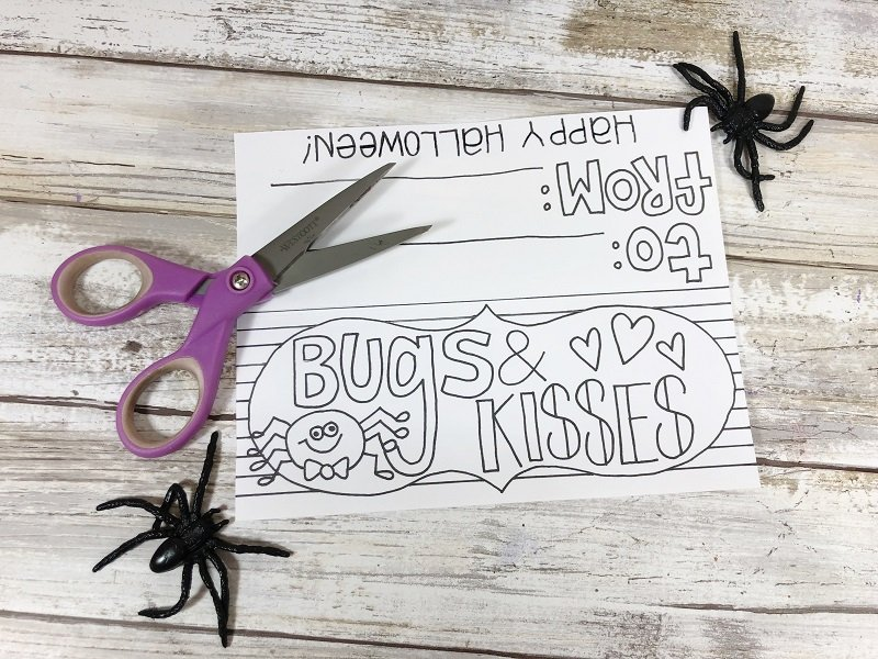 Download and print the free image from Creatively Beth then cut out with scissors #freeprintable #halloween