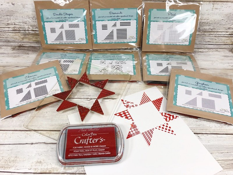 Creatively Beth create a traditional star quilt design with stamps!