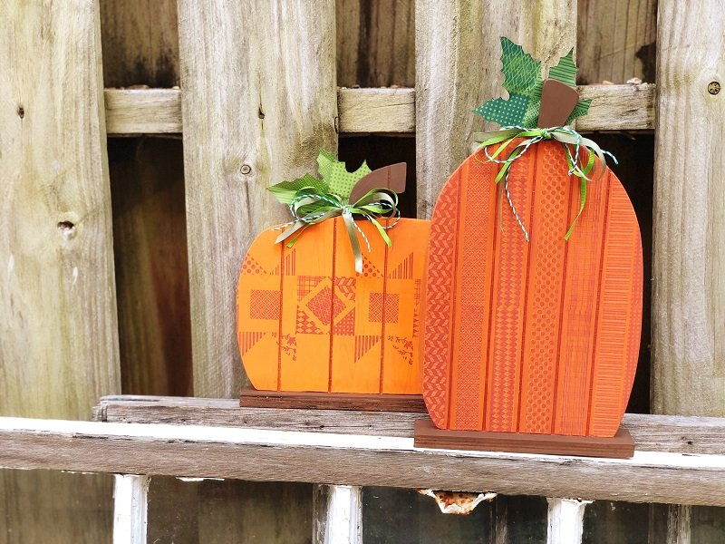Creatively Beth Faux Quilted wooden pallet pumpkins