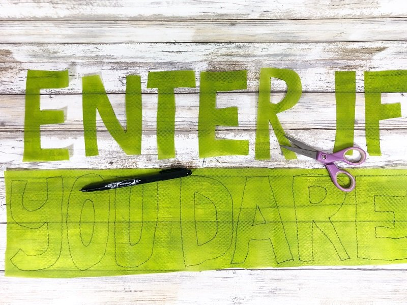 Creatively Beth draw letters onto Oly*Fun and cut out with scissors