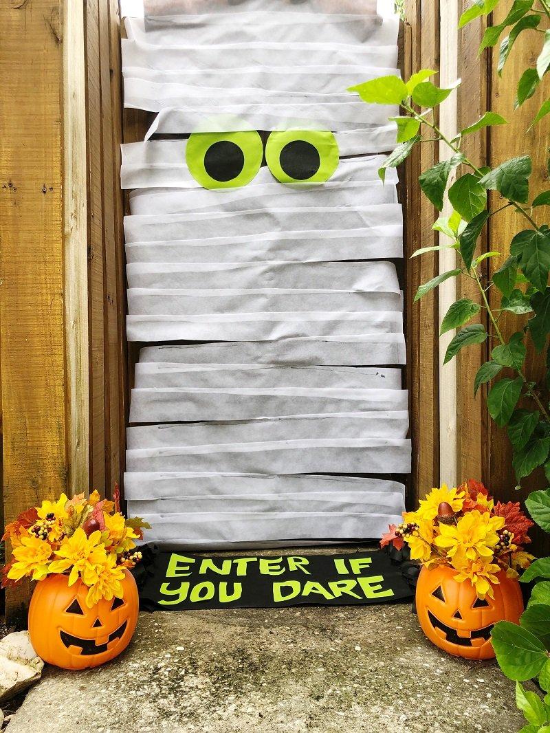 Creatively Beth DIY Halloween Mummy Door created with Oly Fun by Fairfield World
