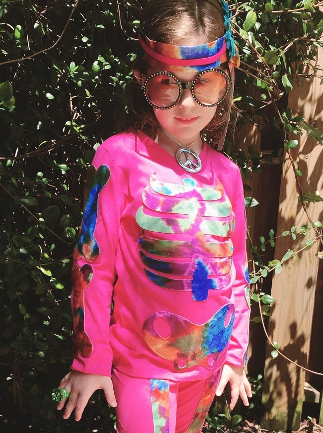 No sew Kids Skeleton Halloween Costume by Creatively Beth