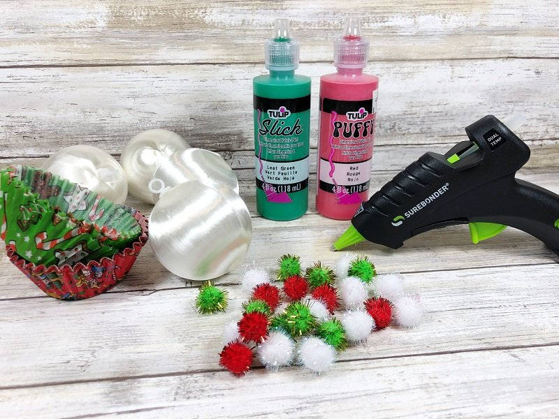 Dollar Tree Supplies needed for Christmas Cupcakes #creativelybeth #dollartreecrafts #christmascrafts #christmascupcake