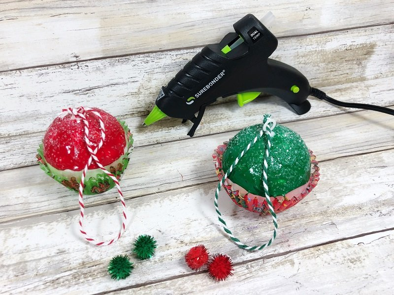Add the cherry on top! #creativelybeth #dollartreecrafts #christmascrafts #christmascupcake