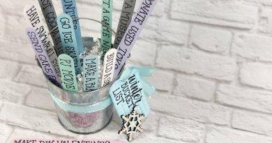 Quick and Easy Craft Stick Winter Bucket List Creatively Beth #creativelybeth #wintercrafts #dollartreecrafts #kidscrafts