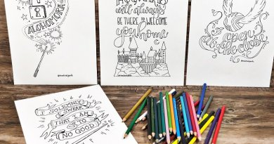 Four Magical Harry Potter Printable Quotes Coloring Pages Creatively Beth #creativelybeth #printables #harrypotter #handlettered