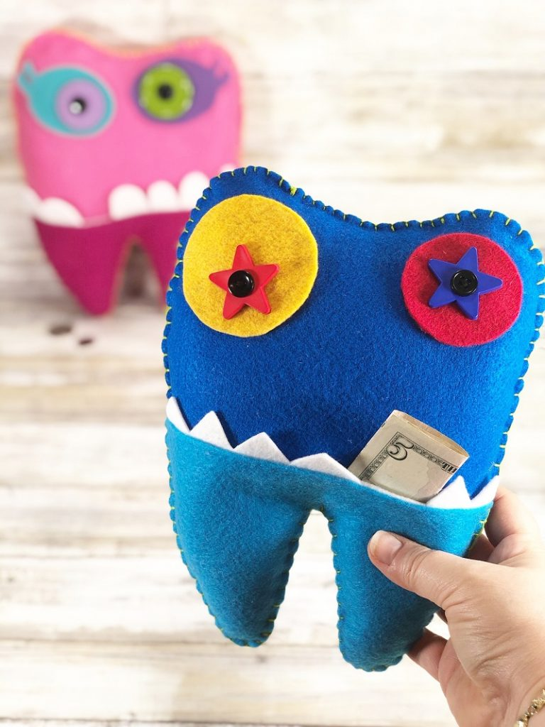 tooth fairy monster pillow for boys and