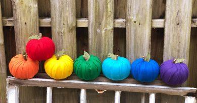 How to DIY Rainbow Dollar Tree Pumpkins Creatively Beth #creativelybeth #dollartreecrafts #halloweencrafts #pumpkincrafts #rainbowcrafts #createwithkunin