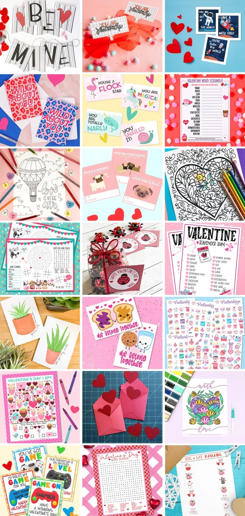 21 FREE Valentine's Day Printables including Love is in the Air Coloring Page by Creatively Beth